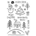 Hero Arts - Christmas - Clear Acrylic Stamps - Holiday Cheer