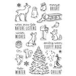 Hero Arts - Christmas - Clear Photopolymer Stamps - Winter Time Fun