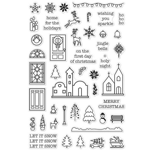 Hero Arts - Clear Acrylic Stamps - Mini Christmas