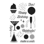 Hero Arts - Clear Acrylic Stamps - Birthday Celebration