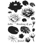 Hero Arts - Clear Photopolymer Stamps - Color Layering Water Lilies