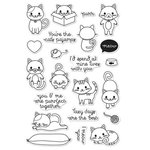 Hero Arts - Friendly Critters Collection - Clear Acrylic Stamps - Purr