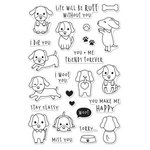 Hero Arts - Friendly Critters Collection - Clear Acrylic Stamps - Woof