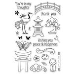 Hero Arts - Garden Collection - Clear Acrylic Stamps - Japanese Wishing Garden