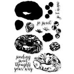 Hero Arts - Parisian Style Collection - Clear Acrylic Stamps - Color Layering Croissant