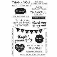 Hero Arts - Everyday Collection - Clear Photopolymer Stamps - Thank You Messages