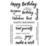 Hero Arts - Everyday Collection - Clear Acrylic Stamps - Birthday Messages