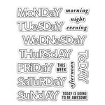 Hero Arts - Kelly Purkey Collection - Clear Acrylic Stamps - Days of the Week