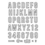 Hero Arts - Kelly Purkey Collection - Clear Acrylic Stamps - Everyday Alphabet