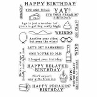 Hero Arts - Everyday Collection - Clear Photopolymer Stamps - Irreverent Birthday Messages