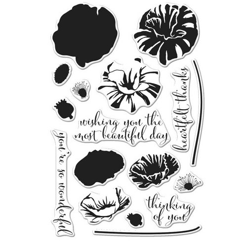 Hero Arts - Clear Photopolymer Stamps - Color Layering Poppy
