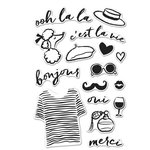 Hero Arts - Parisian Style Collection - Clear Acrylic Stamps - Ooh La La