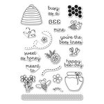 Hero Arts - Garden Collection - Clear Acrylic Stamps - Busy As A