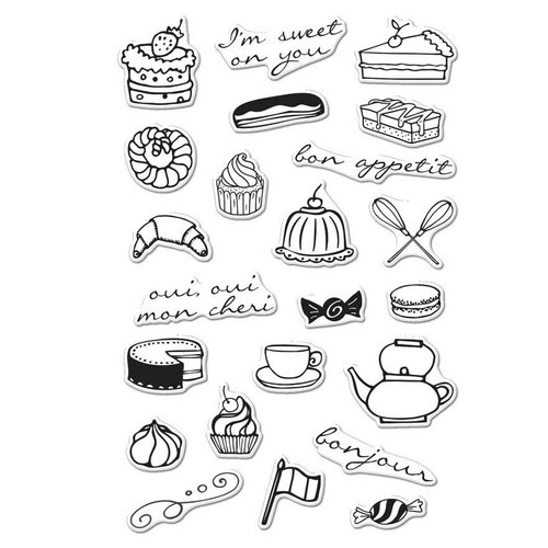 Hero Arts - Parisian Style Collection - Clear Acrylic Stamps - French Treats