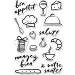 Hero Arts - Parisian Style Collection - Clear Acrylic Stamps - Bon Appetite