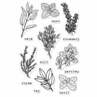 Hero Arts - Clear Photopolymer Stamps - Fresh Herbs