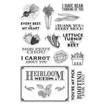 Hero Arts - Clear Acrylic Stamps - Produce and Seeds