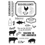 Hero Arts - Clear Acrylic Stamps - Egg-cellent