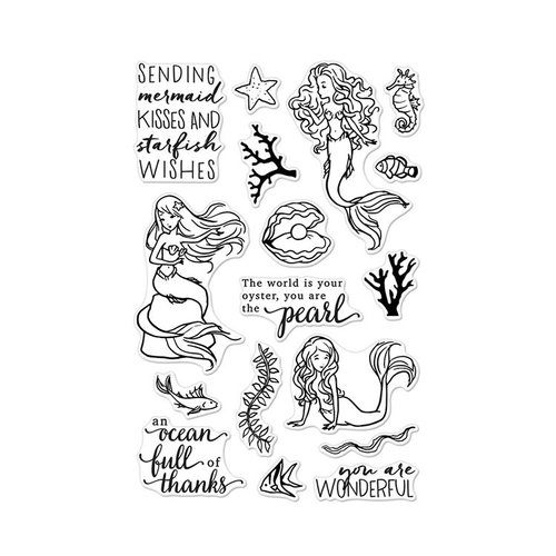 Hero Arts - Clear Photopolymer Stamps - Mermaid Kisses