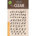 Hero Arts - Clear Acrylic Stamps - Brushstroke Alphabet