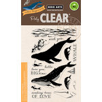Hero Arts - Clear Acrylic Stamps - Color Layering Blue Whale