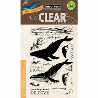 Hero Arts - Clear Photopolymer Stamps - Color Layering Blue Whale
