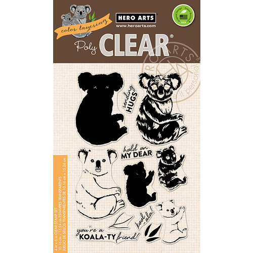 Hero Arts - Clear Photopolymer Stamps - Color Layering Koala