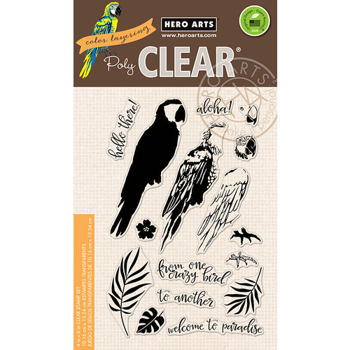 Hero Arts - Clear Photopolymer Stamps - Color Layering Parrot