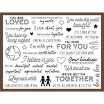 Hero Arts - Clear Acrylic Stamps - You Are Loved Messages