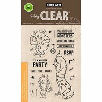 Hero Arts - Clear Photopolymer Stamps - Monster Greetings