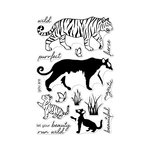 Hero Arts - Clear Acrylic Stamps - Color Layering Bengal Tigers