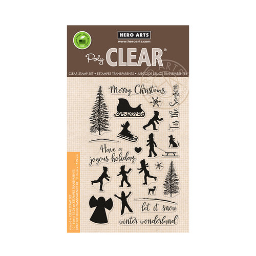 Hero Arts - Christmas - Clear Acrylic Stamps - Winter Silhouettes