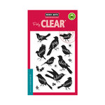 Hero Arts - Christmas - Clear Acrylic Stamps - Bird Words