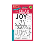 Hero Arts - Clear Acrylic Stamps - Color Layering Joy Message