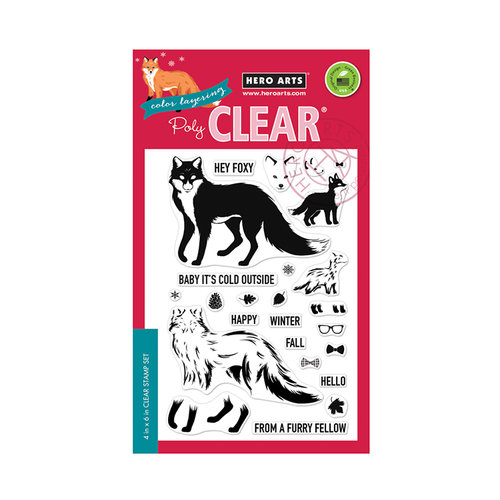 Hero Arts - Clear Photopolymer Stamps - Color Layering Cool Fox