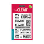 Hero Arts - Clear Acrylic Stamps - Poster Christmas Carols
