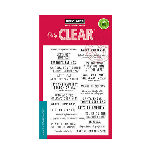 Hero Arts - Christmas - Clear Photopolymer Stamps - Off-Beat Holiday Messages