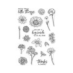 Hero Arts - Clear Acrylic Stamps - Little Florals