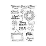 Hero Arts - Christmas - Clear Photopolymer Stamps - Santa's Door Accessories