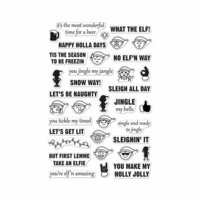 Hero Arts - Christmas - Clear Photopolymer Stamps - Irreverent Elf Messages