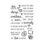 Hero Arts - Clear Acrylic Stamps - I Love How You