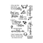 Hero Arts - Clear Acrylic Stamps - I Love You More Than Pizza