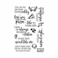 Hero Arts - Clear Photopolymer Stamps - I Love You More Than Pizza