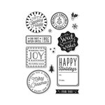 Hero Arts - Christmas - Clear Acrylic Stamps - Holiday Badges