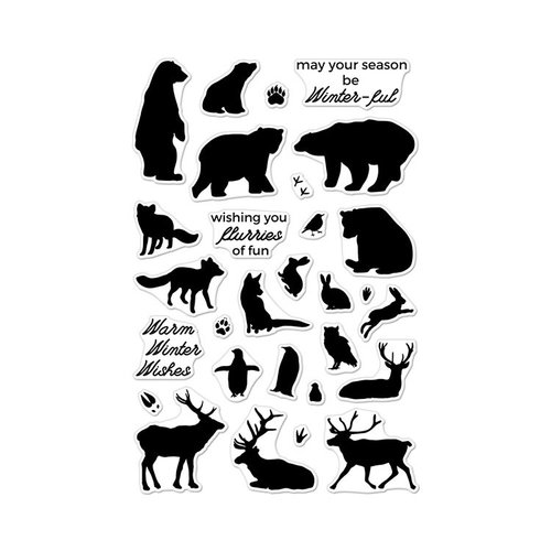 Hero Arts - Clear Acrylic Stamps - Winter Animals