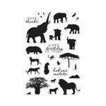 Hero Arts - Clear Acrylic Stamps - Safari Huge Thanks
