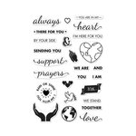 Hero Arts - Clear Acrylic Stamps - Support Prayers Love