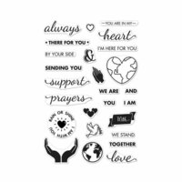 Hero Arts - Clear Photopolymer Stamps - Support Prayers Love