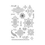 Hero Arts - Clear Acrylic Stamps - Ornate Henna Patterns