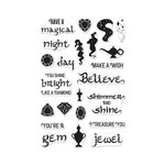 Hero Arts - Clear Acrylic Stamps - Magical Nights Messages